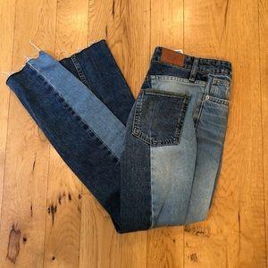 New urban light/dark wash jeans